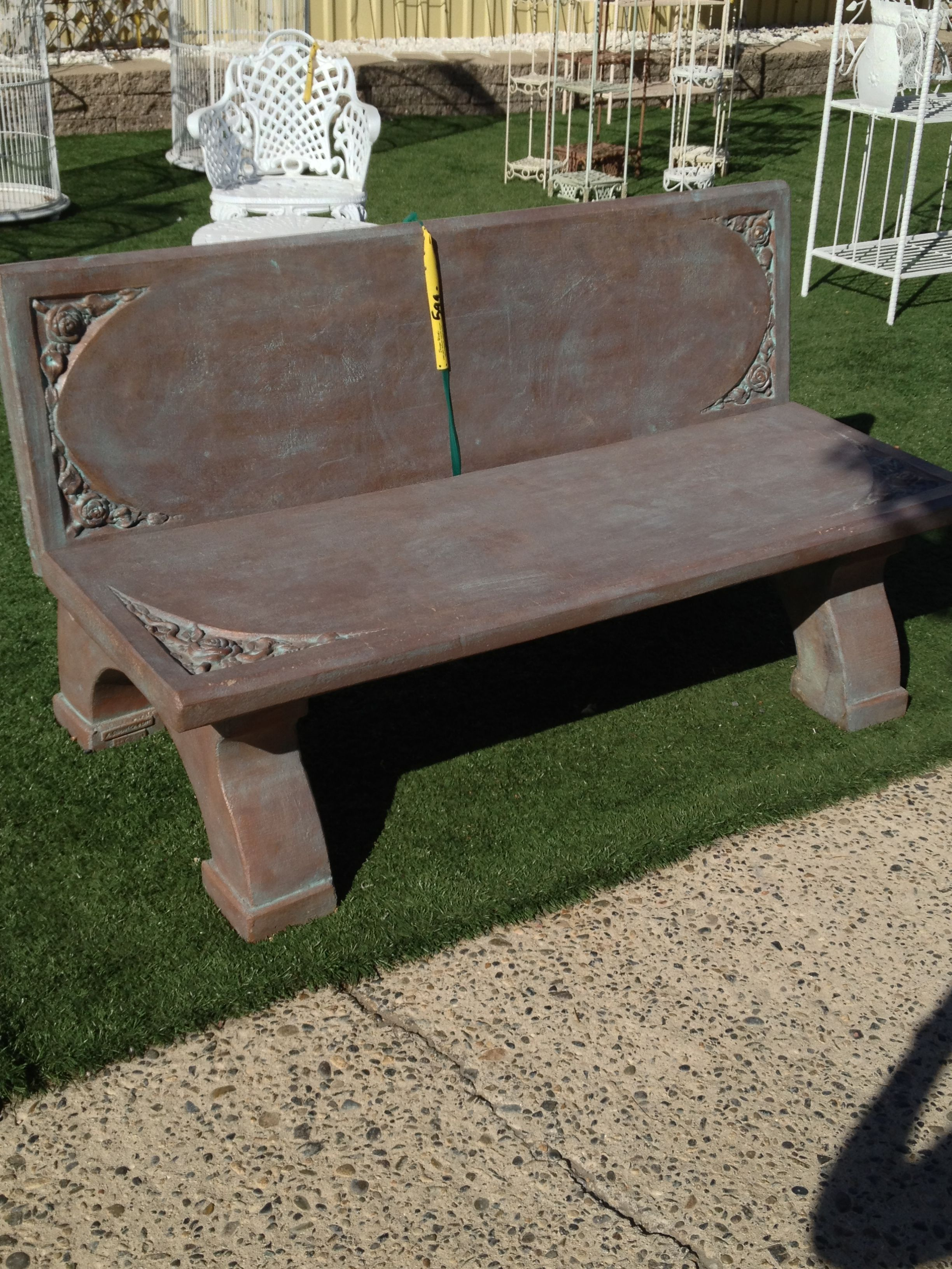 beautiful concrete roses bench patio and outdoor furniture