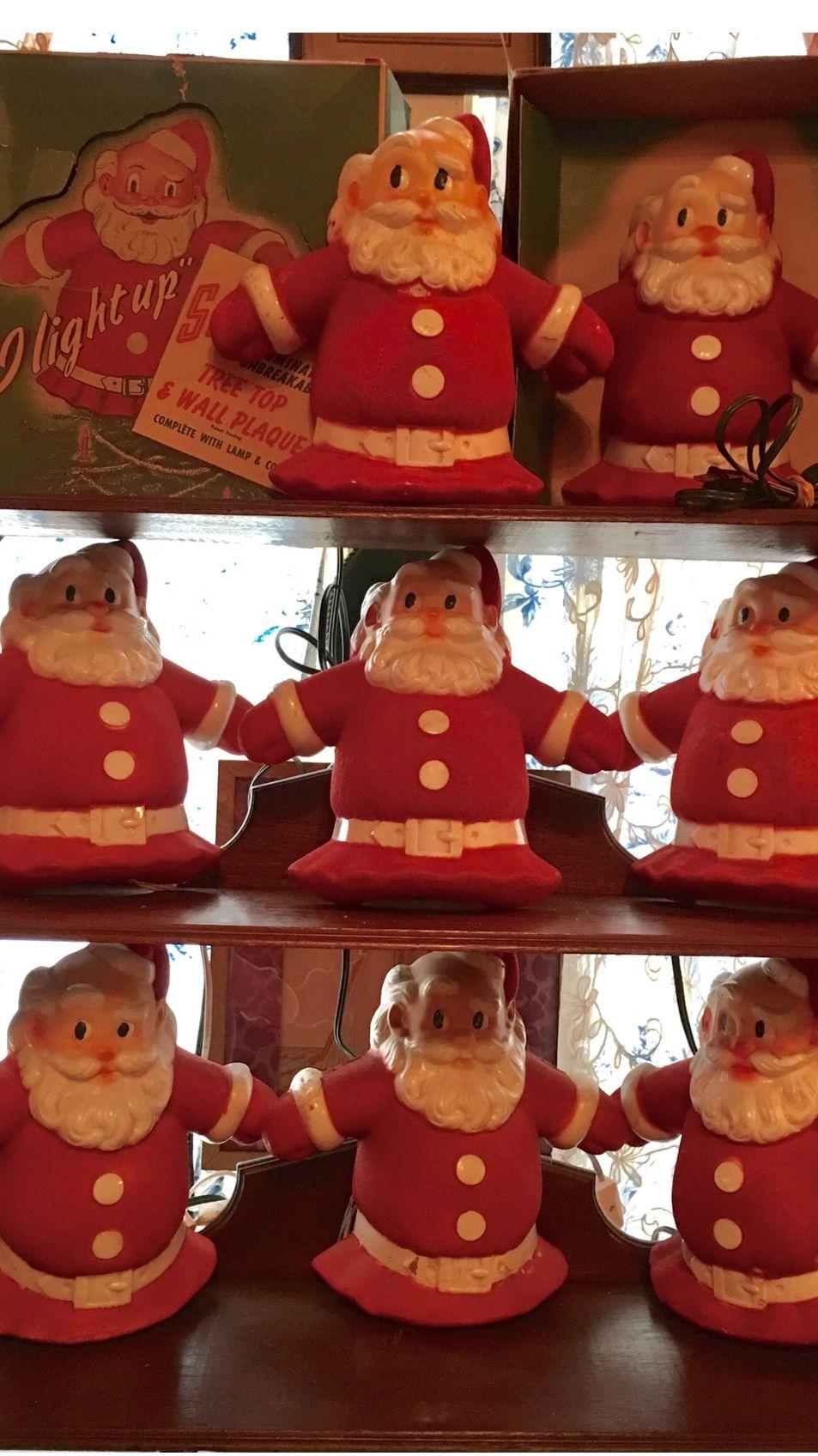 1954 Glo-lite Santas