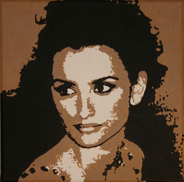 Portrait Penélope Cruz, Popart von werkstatt45 auf DaWanda.com