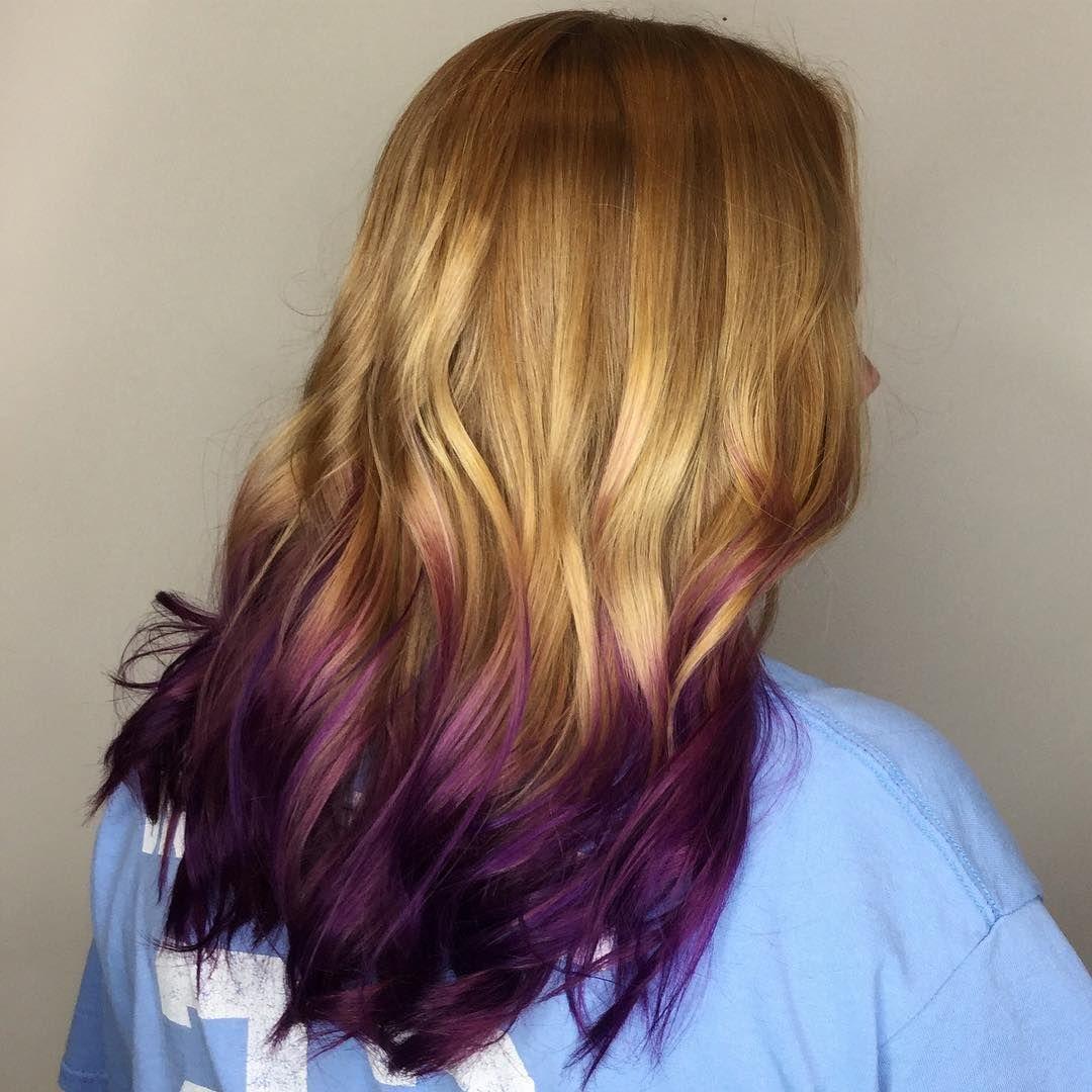 Strawberry Blonde To Rich Violet Ombre Hairs Pinterest Dark