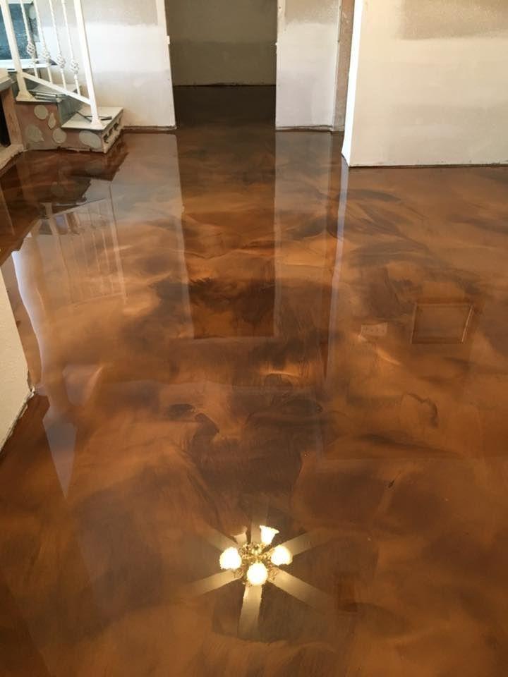Incredible metallic epoxy flooring in the Lafayette LA