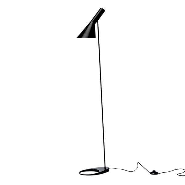 arne jacobsen floor lamp black 600—600 lights