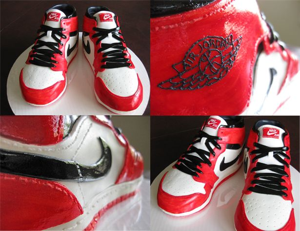 new style 6b274 d8a9a Grooms cake! 2 black white red Air Jordans