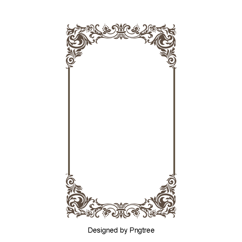 frame lace vector classical continental line drawings vector border