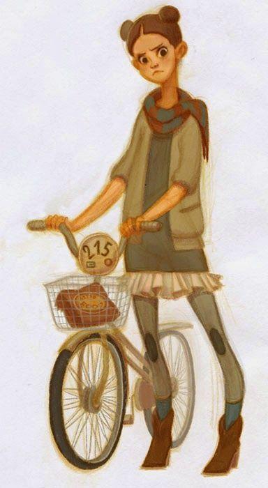 Pinzellades al món: Diumenge, passeig amb bicicleta / Domingo: paseo en bicicleta / Sunday: Bike Ride