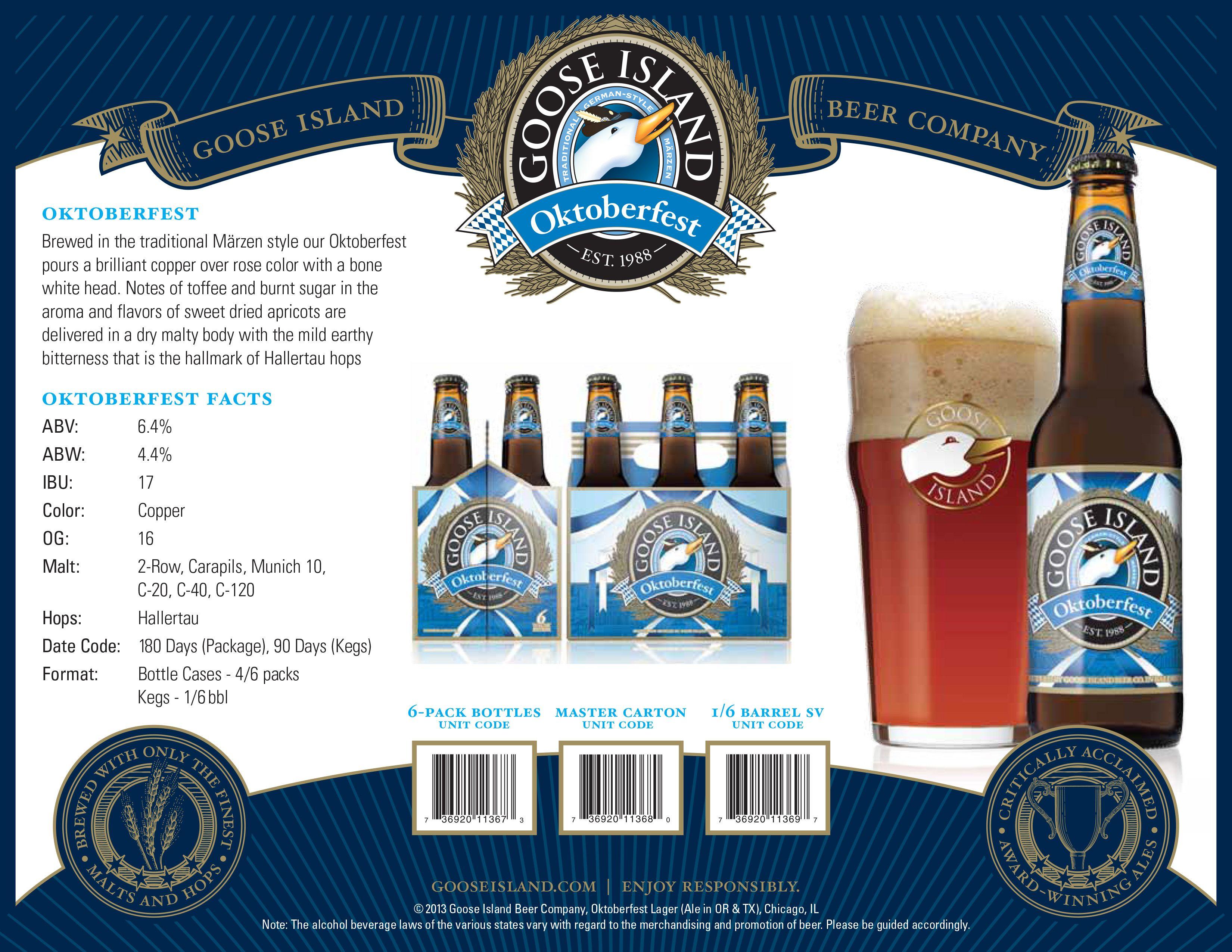 Goose Island Oktoberfest Craft Beer Beer Company Oktoberfest