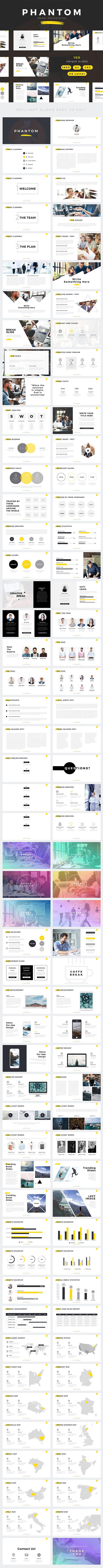 phantom modern powerpoint template creative powerpoint templates