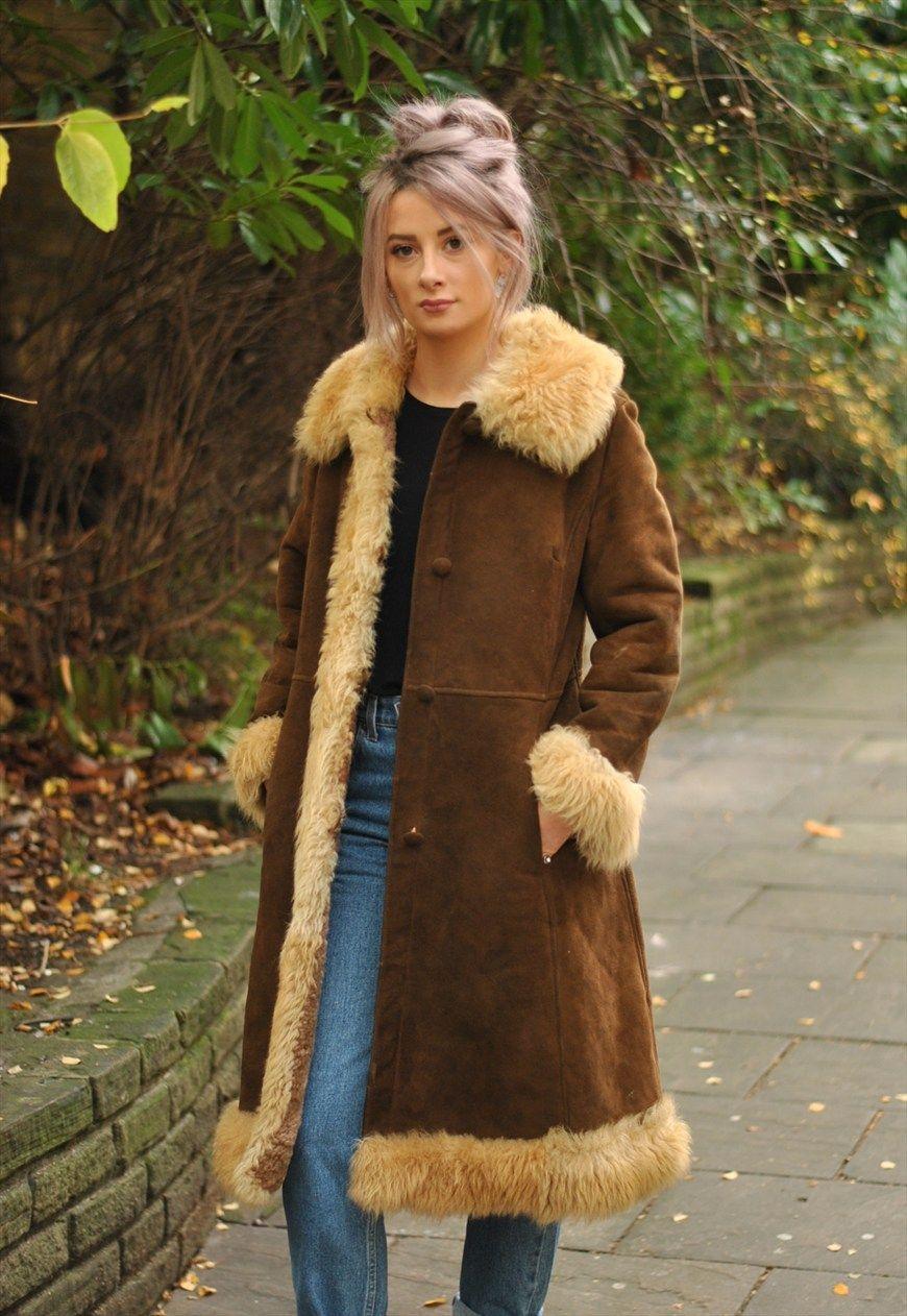 Vintage 1970's sheepskin coat