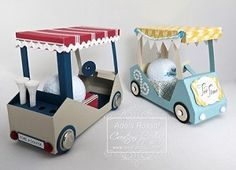 3d paper golf cart box template google search box cards