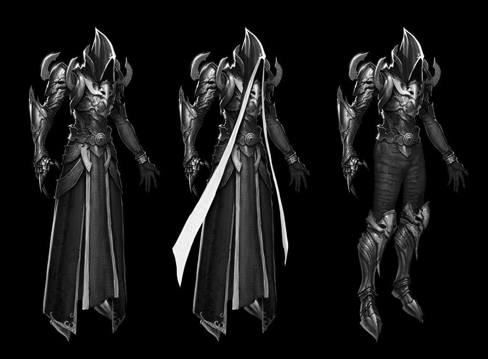 Some concept art of Diablo 3 Malthael the angel of wisdom.