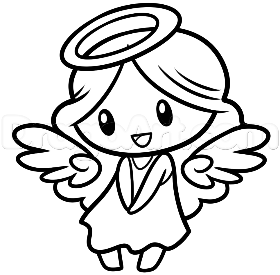 Uncategorized How To Draw A Christmas Angel drawing a chibi angel step 8 1 000000187173 5 png time i have done lot of angels in my day and version is one them looking back at the old lesson on chib
