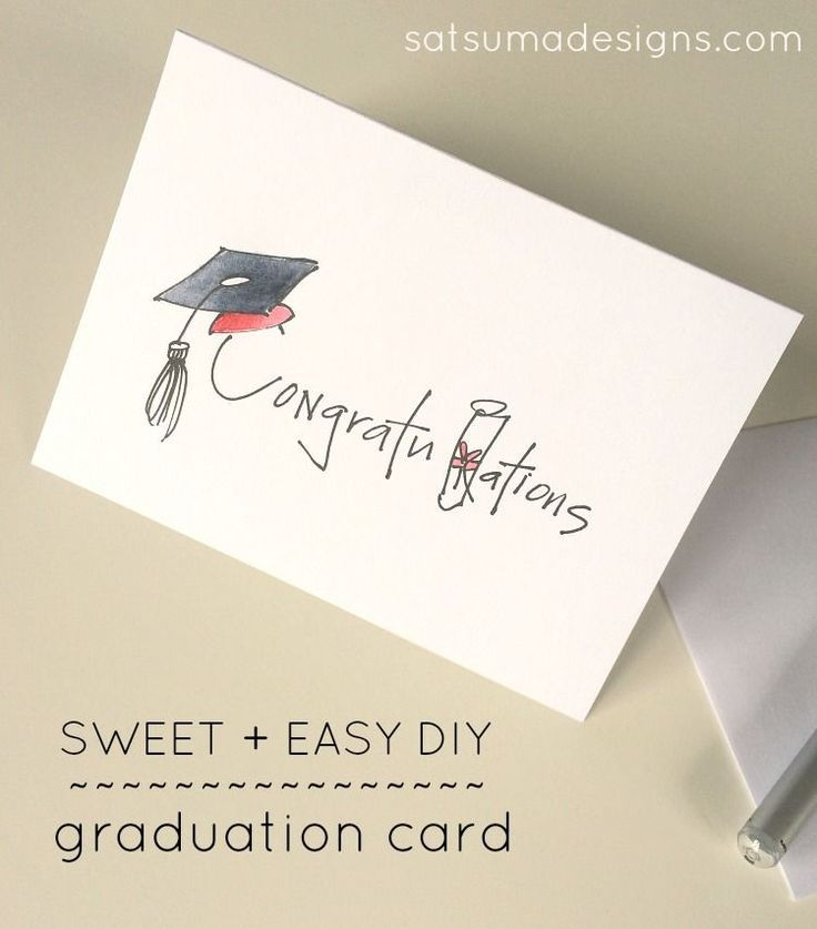 Photo of DIY Graduation Card – Satsuma Designs