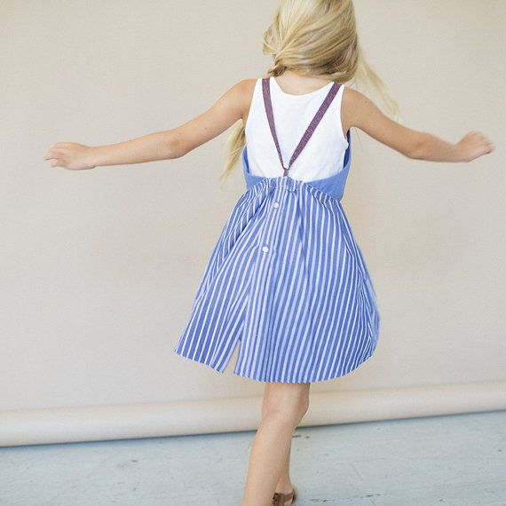 Girls APRON DRESS SIze 4 to 5 by KallioNYC on Etsy, $68.00