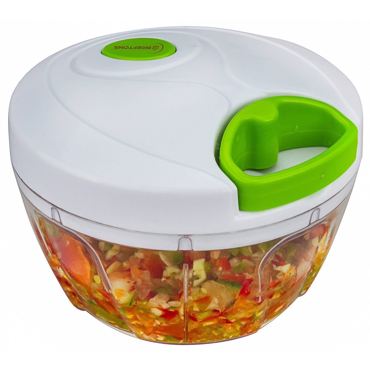 Amazon.com: Brieftons Manual Food Chopper: Compact & Powerful Hand Held Vegetable  Chopper / Mincer / Blender to Chop Fruits, Vegetables, Nuts, Herbs, ...