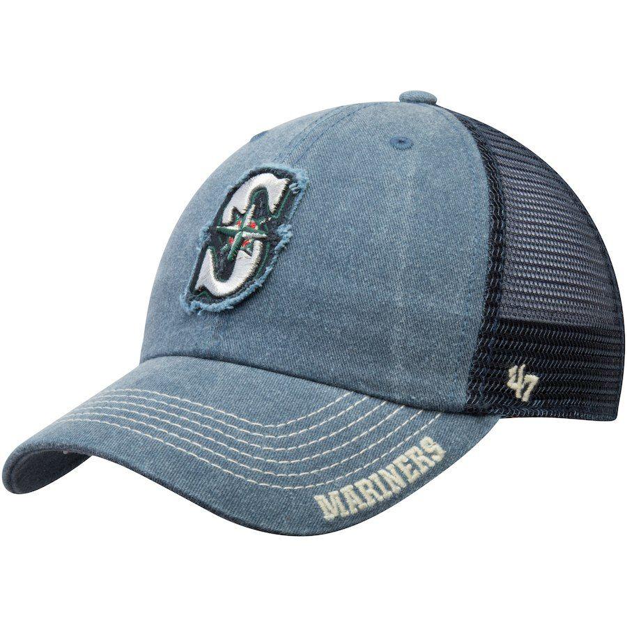 premium selection e131b b6566 Men s Seattle Mariners  47 Navy Burnstead Clean Up Trucker Adjustable Hat,  Your Price   24.99