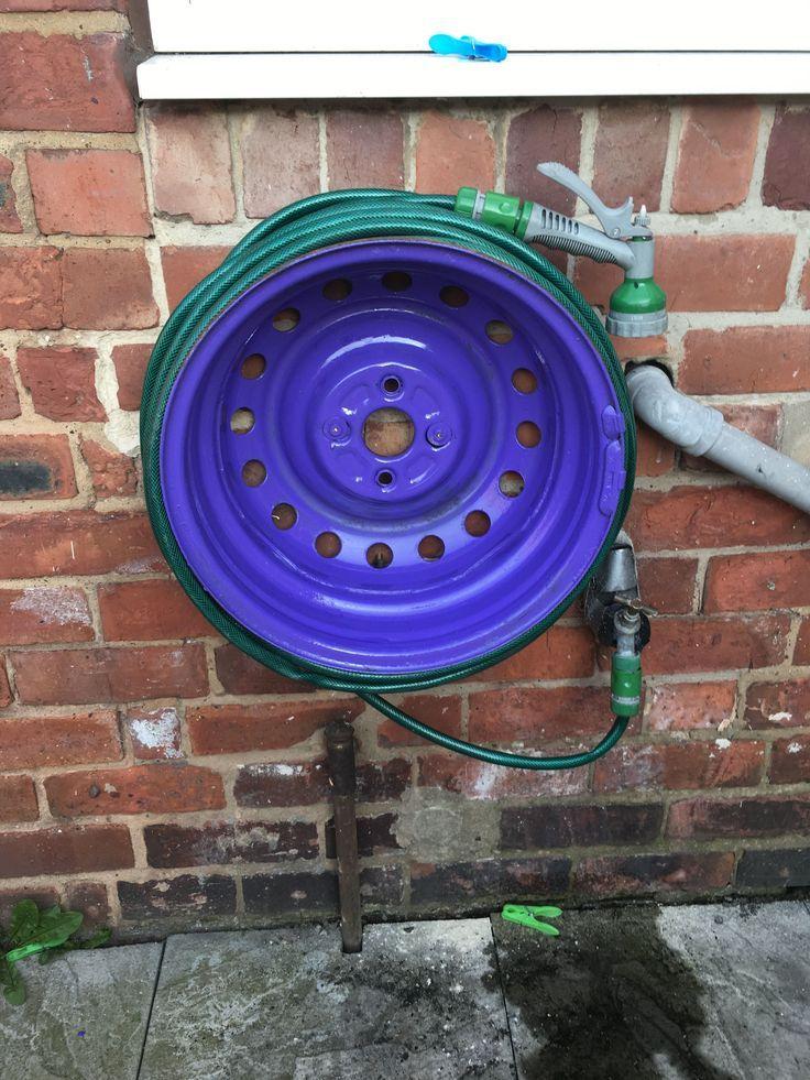 Diy garden hose reel gardenhosesideas with images