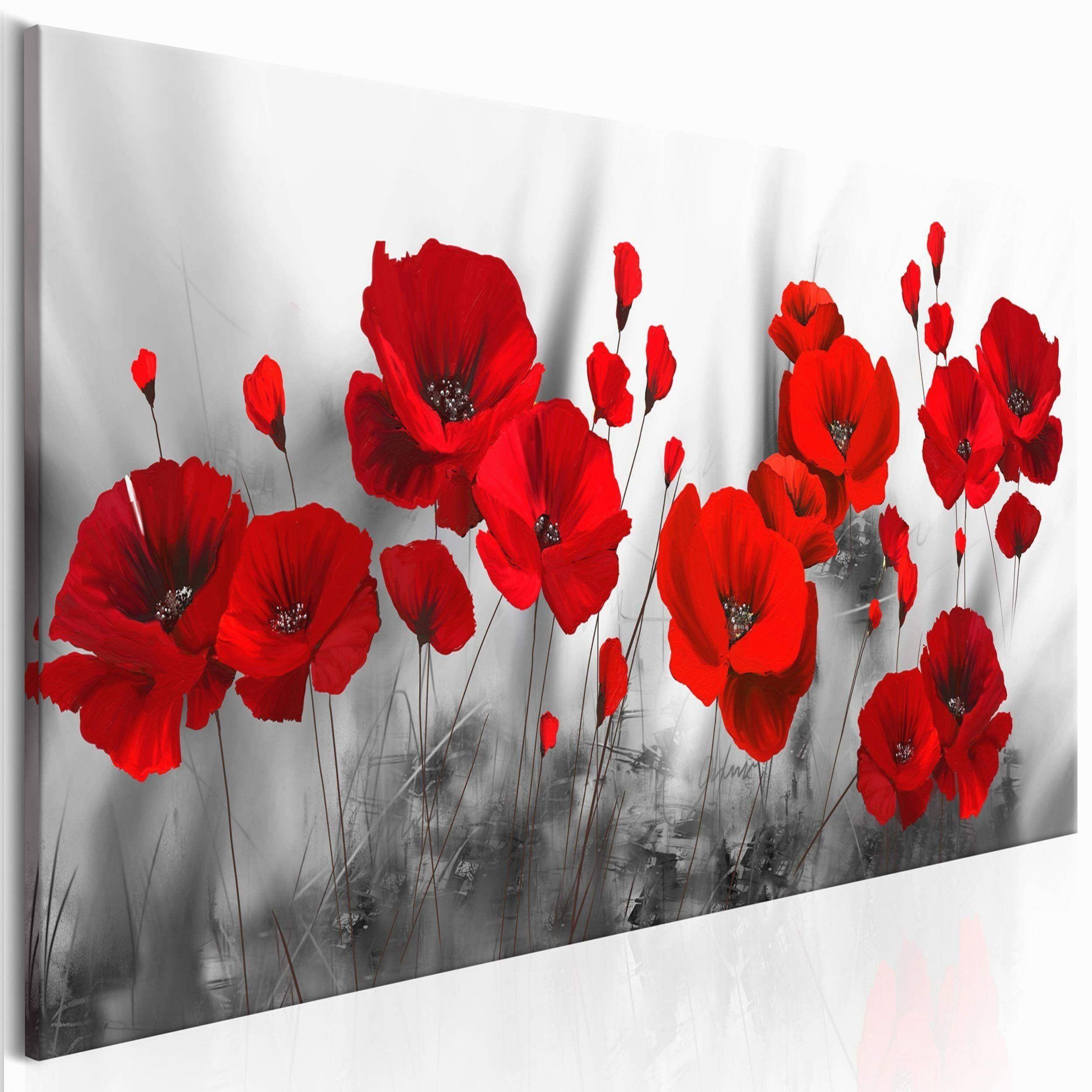 Decomonkey Bilder Blumen Mohnblumen Rot 150x Cm 1 Teilig Leinwandbilder Bild Auf Leinwand Vlies Wandbild Kunstdruck Wandd In 2020 Mohn Malerei Blumen Gemalde Mohnblume