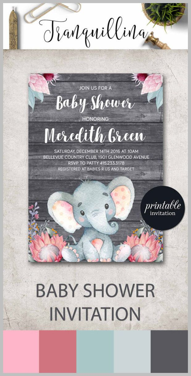 baby shower invitation wording for bringing diapers%0A Elephant Baby Shower Invitation Printed Invitation  Mommy to Be Shower  Invitation  Elephant Invite  Elephant Baby Shower   Elephant baby showers