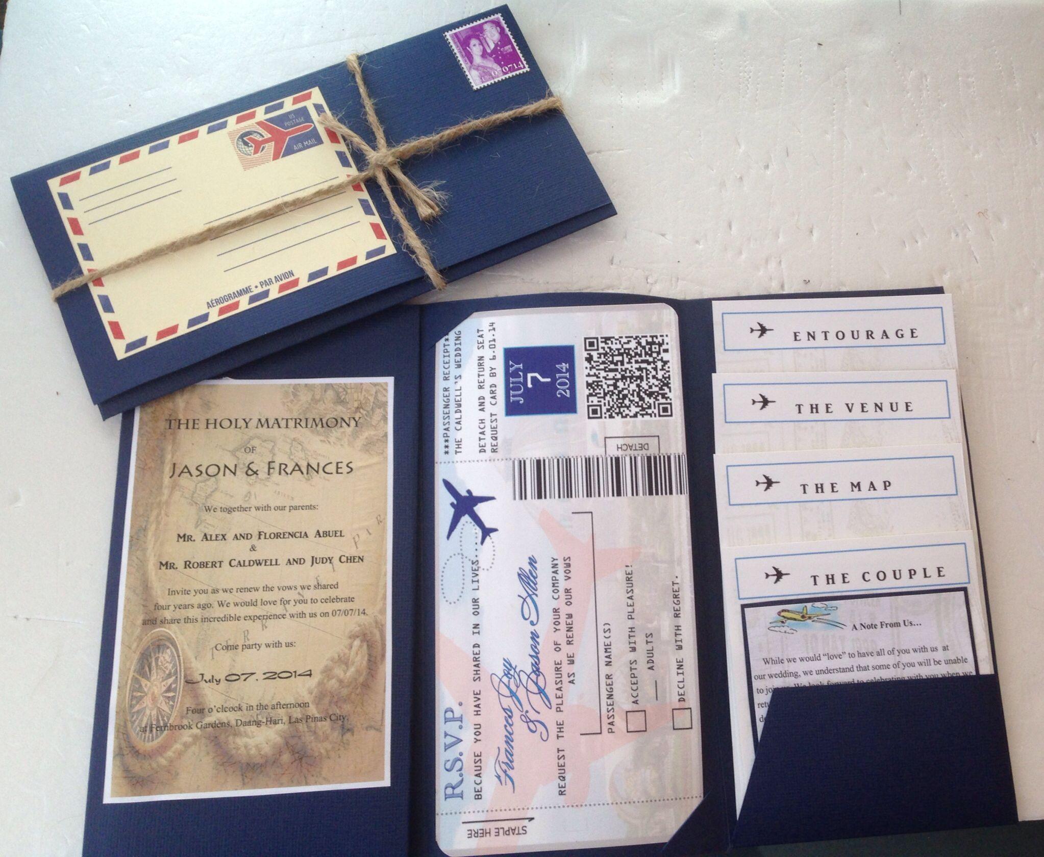 DIY travel themed wedding invites! | Vintage Travel Theme ...