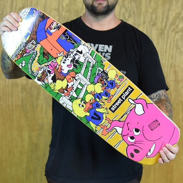 Street Plant Mike Vallely Barnyard Street Deck Yellow Skateboard Art Mike Vallely Deck