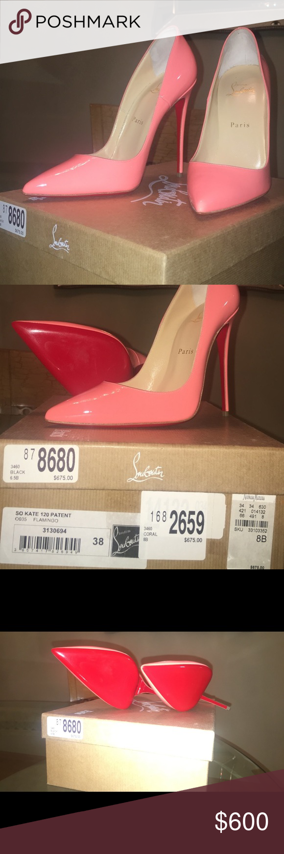 e030be1075a new pink coral Christian Louboutin pigalle follies Brand new with ...