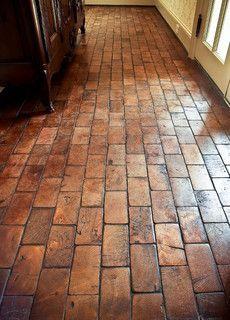 Love These Wood Beam Floors Brick Flooring Flooring