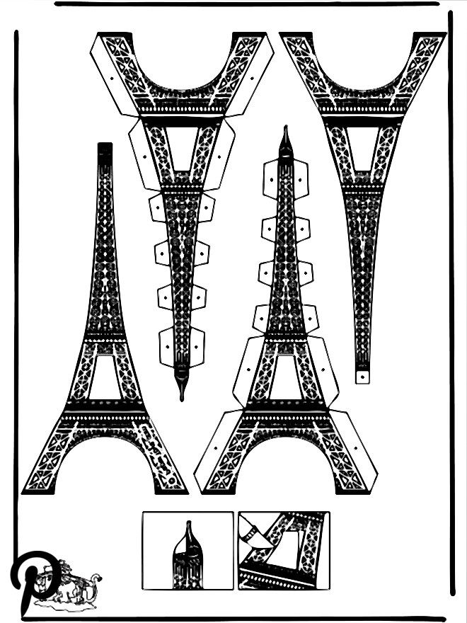 Modellbogen Eiffelturm | Eiffel tower, Eifel tower, Paris ...