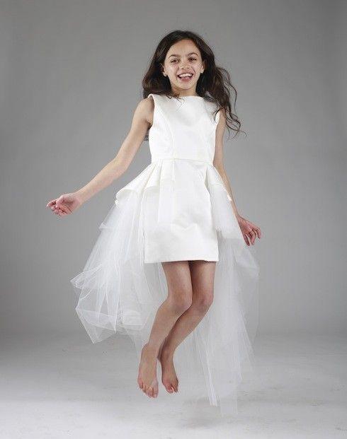 81f774e3db436 Robe Mishka satin et tulle asymétrique robe de princesse robe de bal robe  de soirée enfant