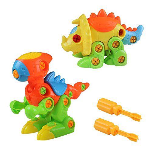 Jeux De Construction Jouet Assemblage Dinosaures Avec Vis Blocs Cadeau Créatif Pour Enfant ...