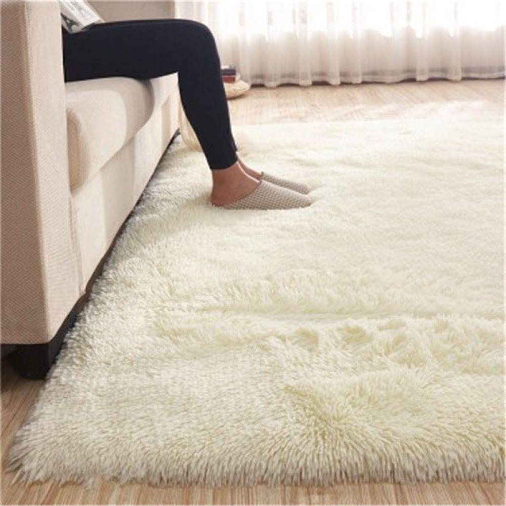 Carpet Home Textile Plain Non Slip Rug Living Room Bedroom Sofa European Thickening Plus Soft Silk Mat Bedside Blanket 100x200cm Bedroom Area Rug Living Room Carpet Rugs On Carpet #soft #plush #area #rugs #for #living #room