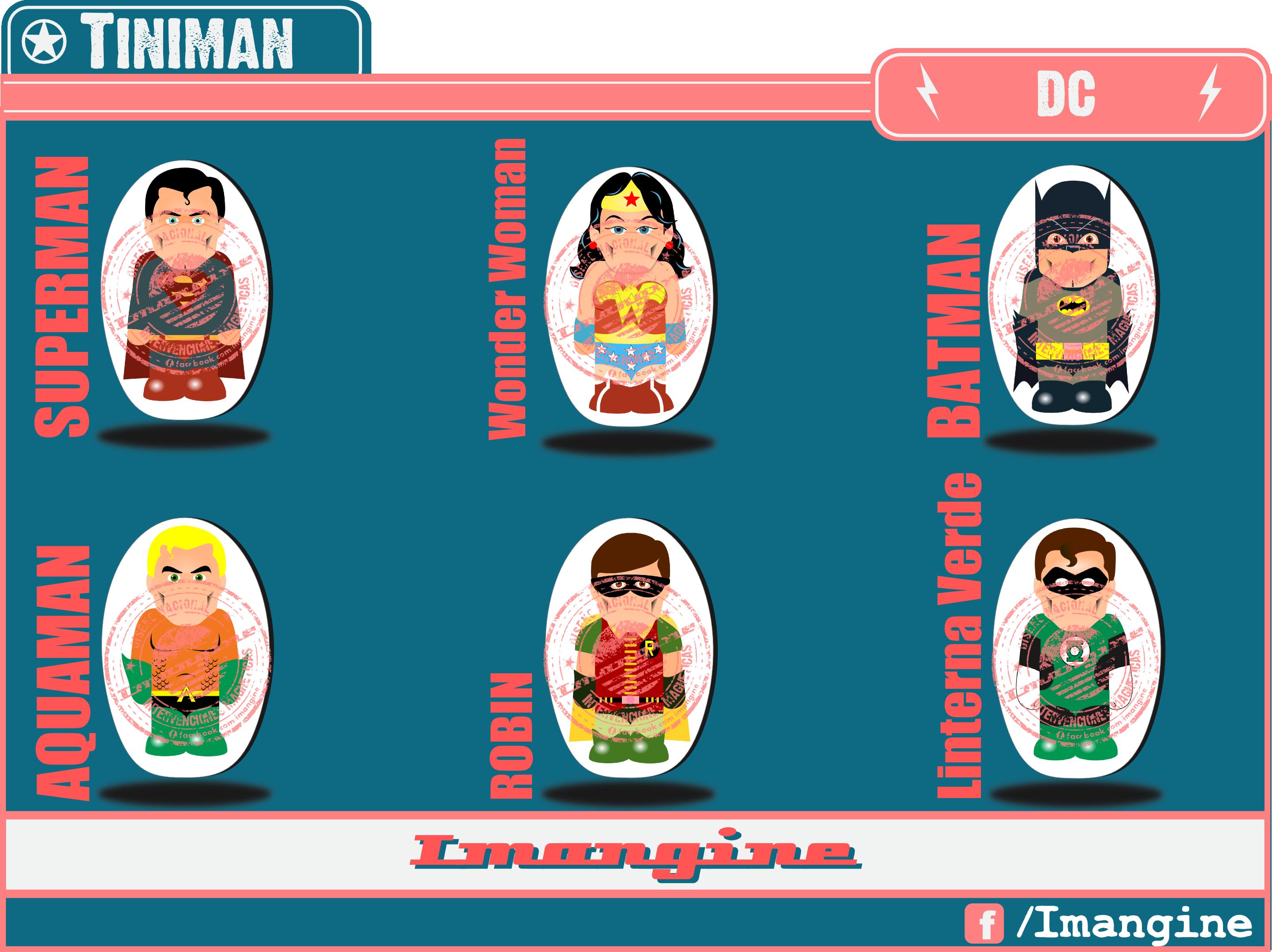 $5 C/U (Precio x Mayor) Superheroes TINIMAN.