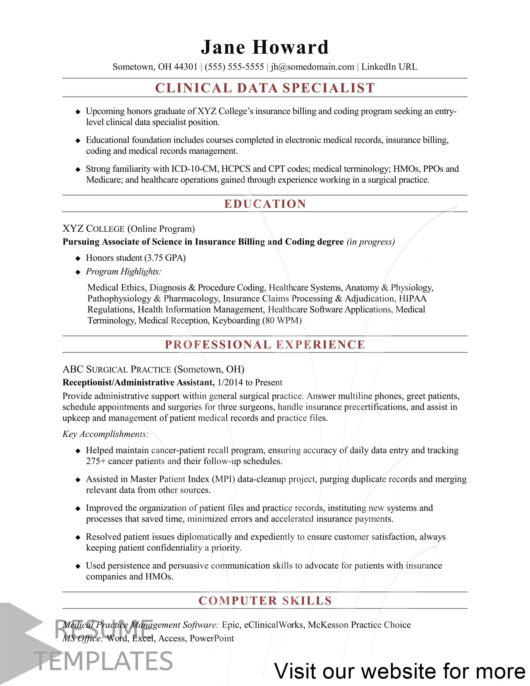 Resume Template Apple Pages In 2020 Job Resume Samples Medical