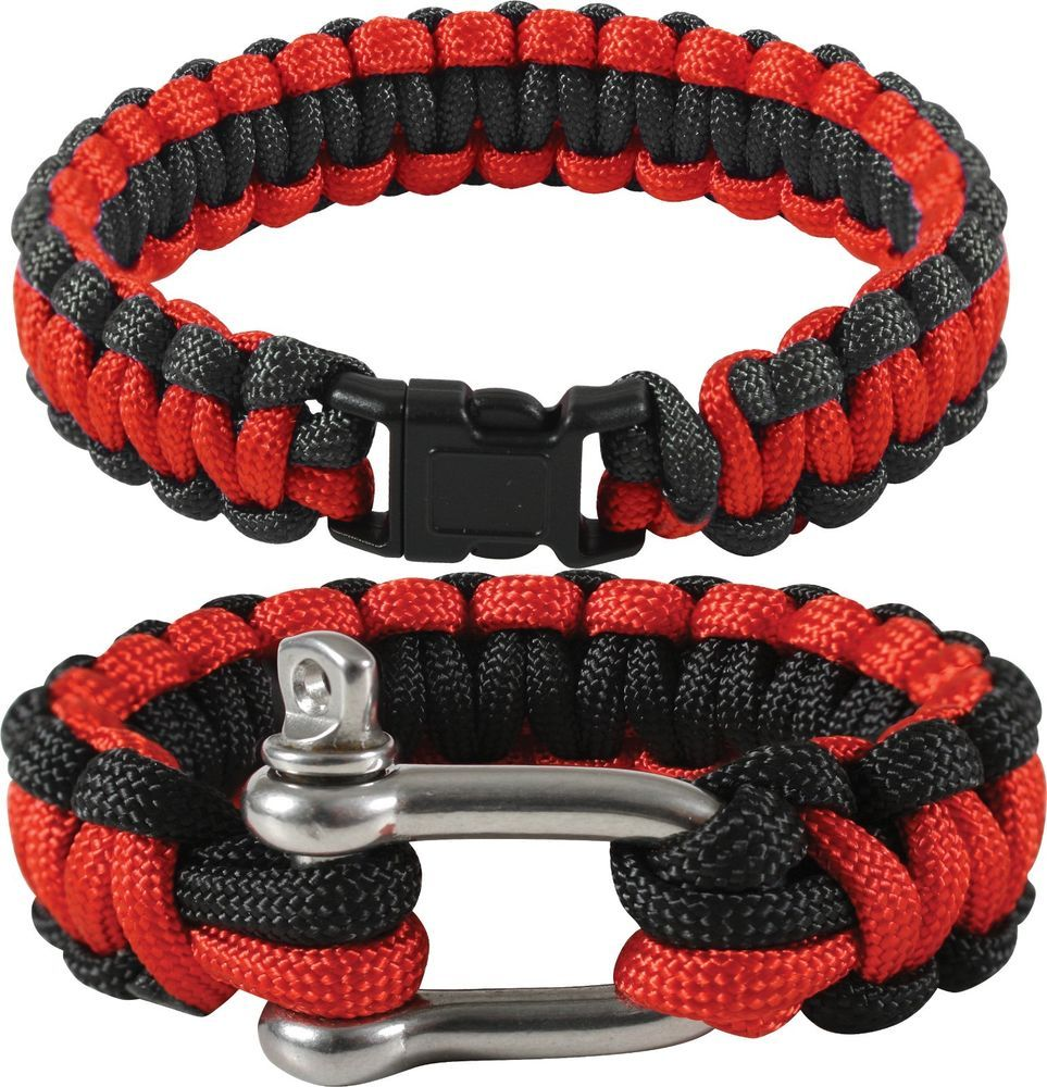 Thin Red Line Paracord Bracelet Support Firefighters Fire Dept FD FDNY   Rothco fc6ca282719
