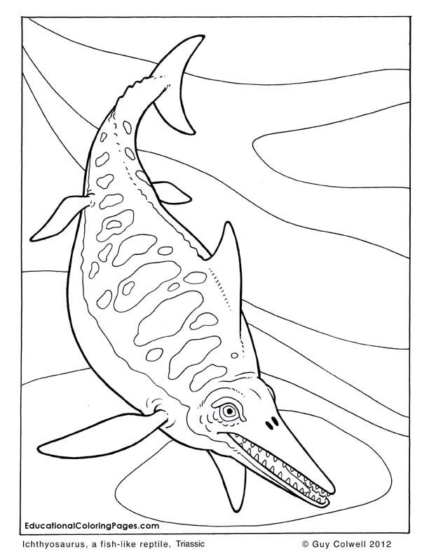 Ichthyosaurus coloring pages
