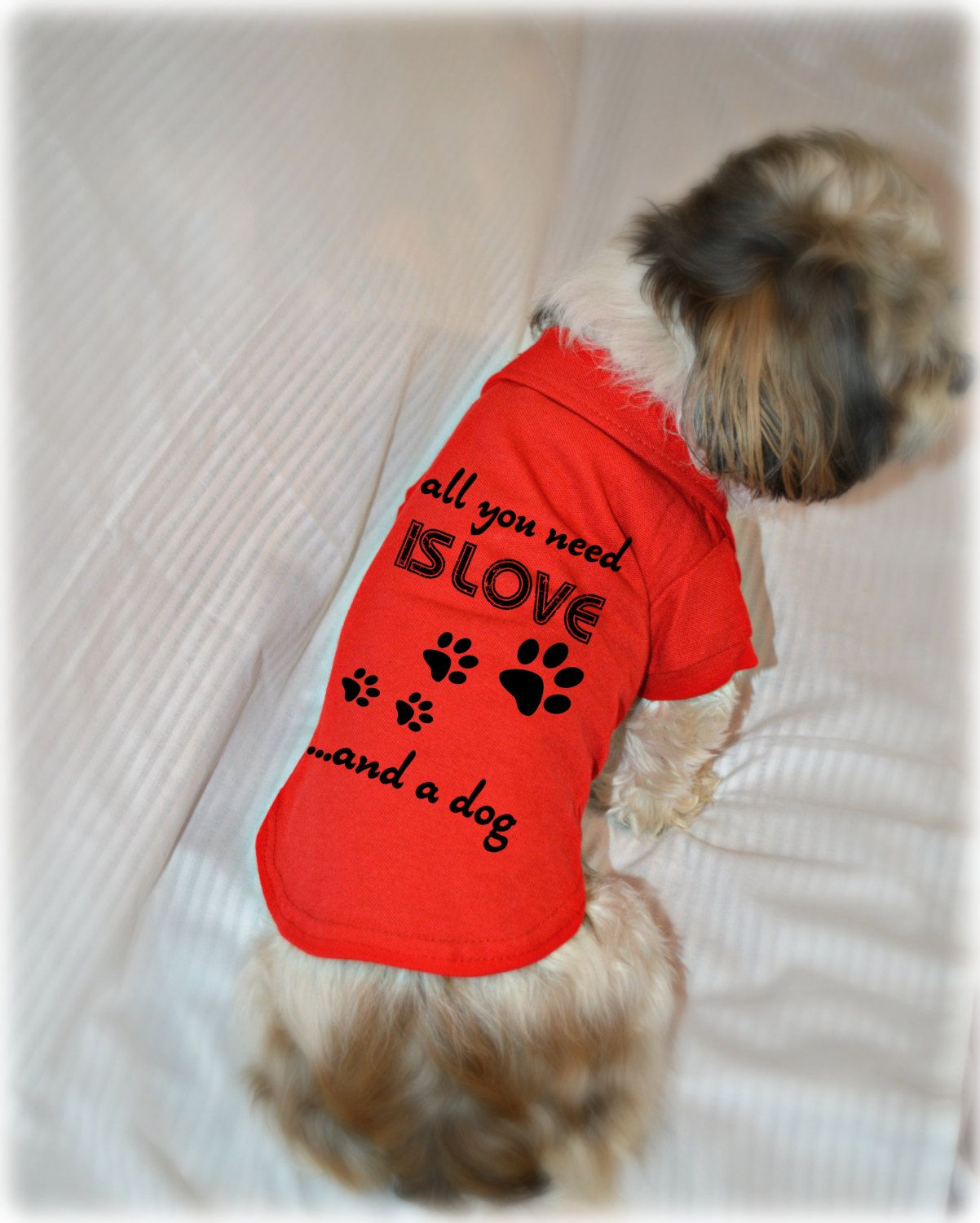 Dog Polo T Shirt All You Need Is Love And A Dog Puppy Dog Shirt Cute Dog Quotes Small Pet Clothes Cute Dog Quotes Dog Shirt Pet Clothes