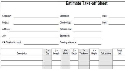 Mechanical Plumbing Estimating Sheets The Mechanical