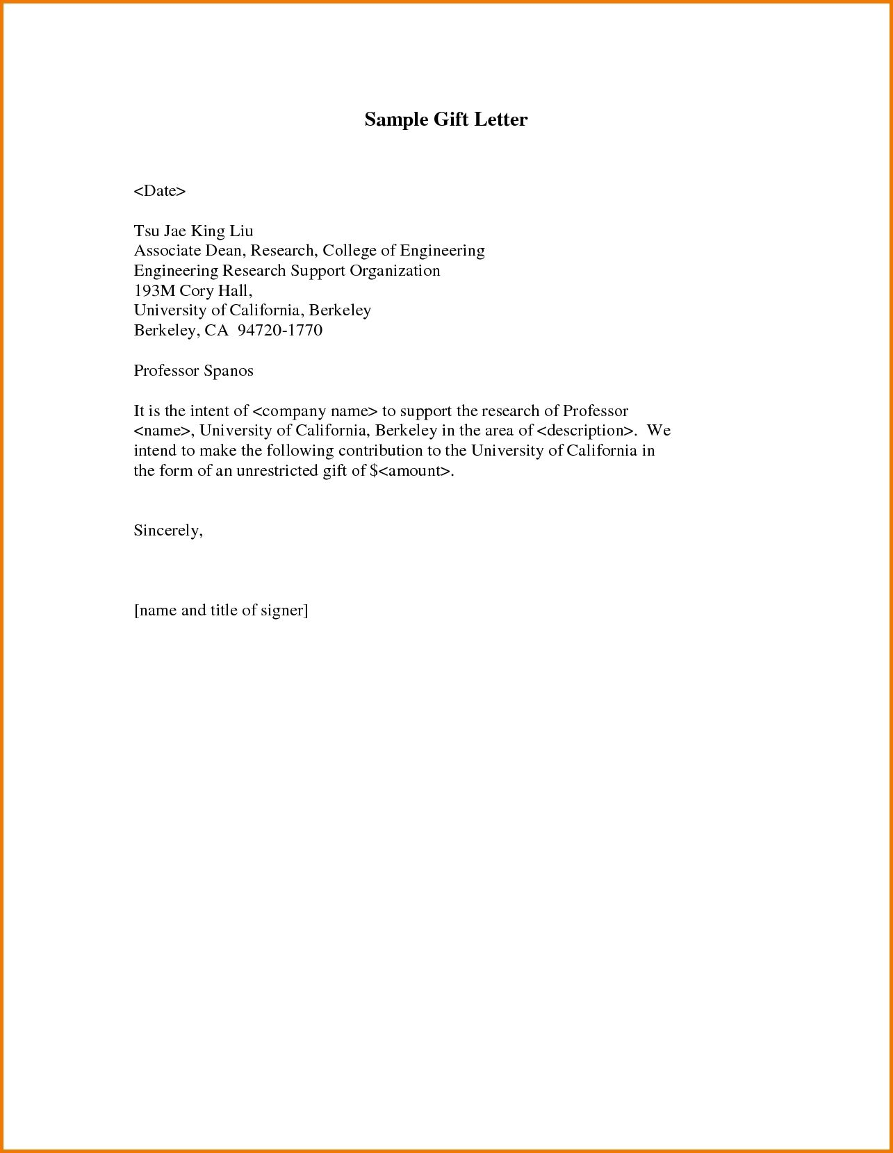 what gift letter template authorization pdf sample home design
