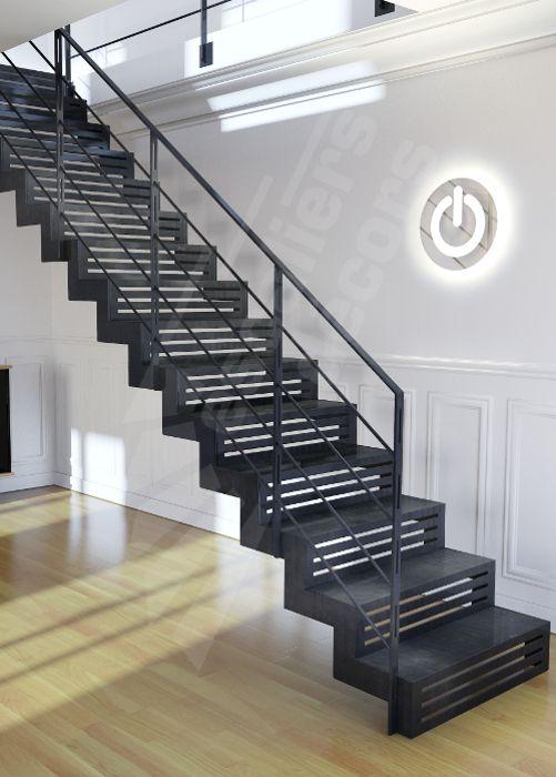 Photo DT117 - ESCA\u0027DROIT® Graphique Escalier droit d\u0027intérieur en