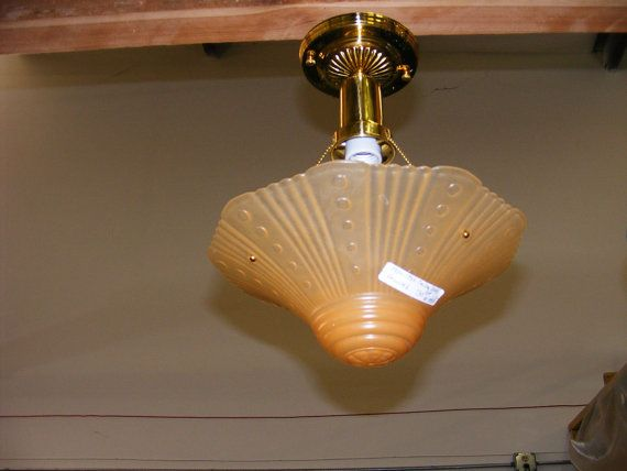 Art deco lighting 1930s 3 hole light fixture modern wiring lovely peach color on