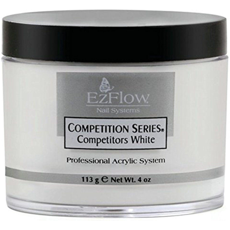 EZ Flow Competition Series Powder Competitors False Nails, White, 4 ...