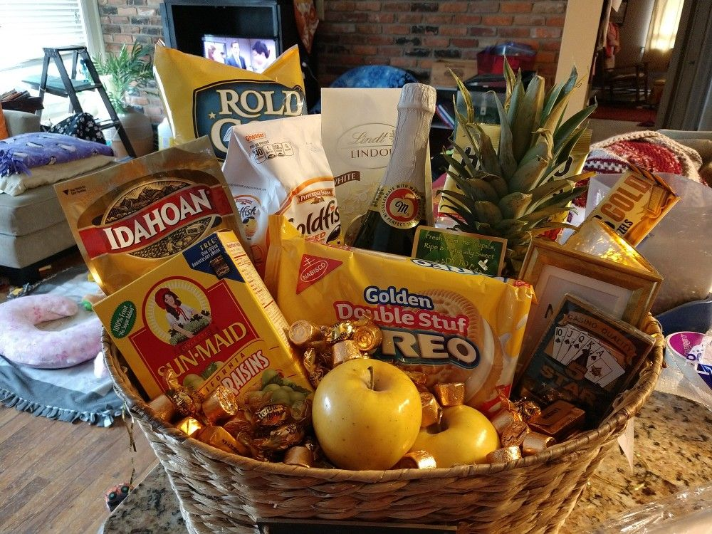 50 Golden Anniversary Gift Basket Gifts 50th