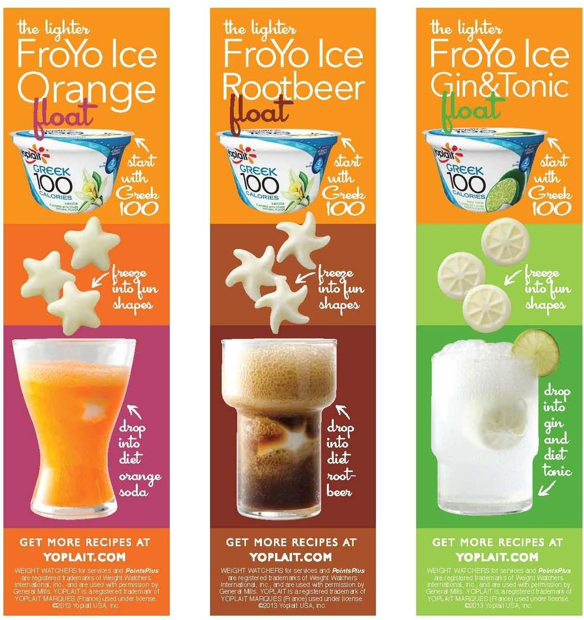 Froyo beverage recipes from Yoplait Greek 100