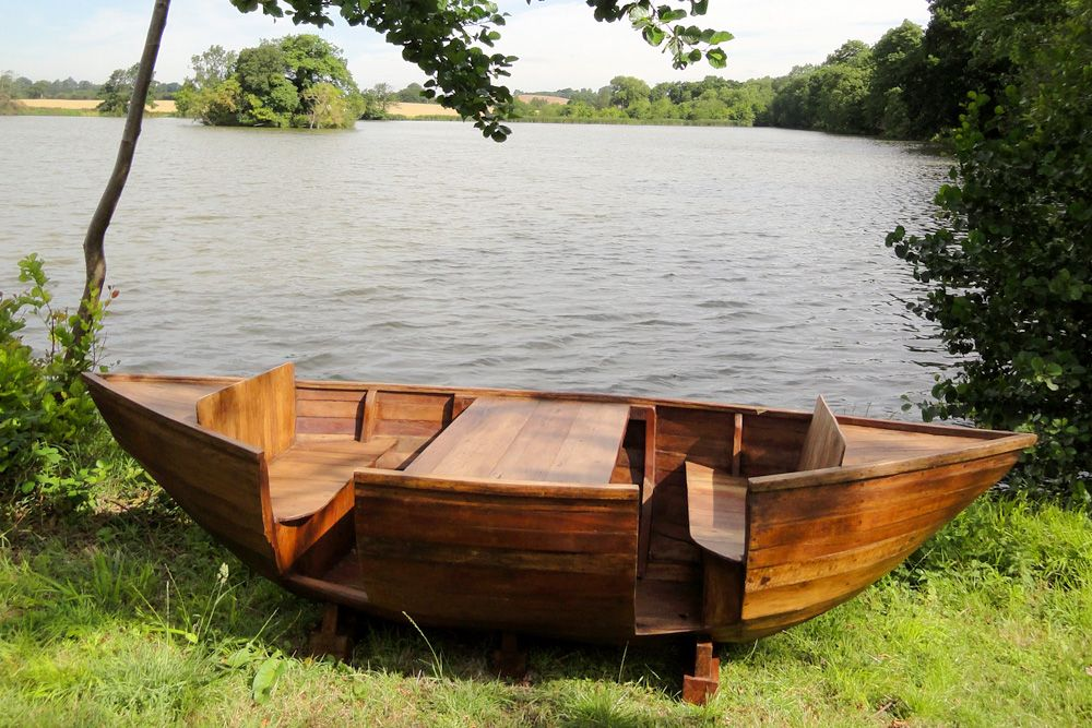 Teak Boat Bench Would Make A Good Little Table And