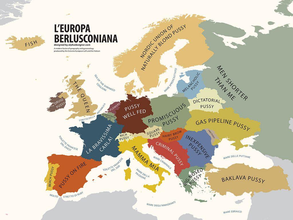 Europe according to berlusconi hilarious map illustration by europe according to berlusconi hilarious map illustration by bulgarian modern artist gumiabroncs Choice Image