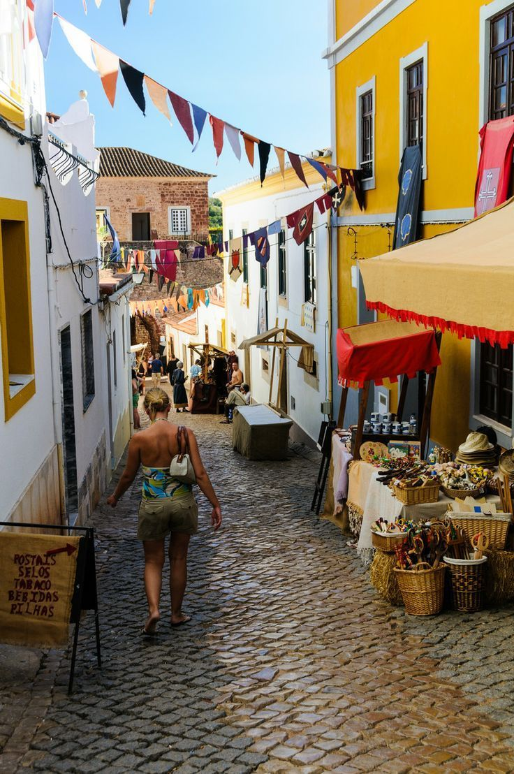 Travel Inspiration for Portugal - Street in Silves, Algarve. Portugal