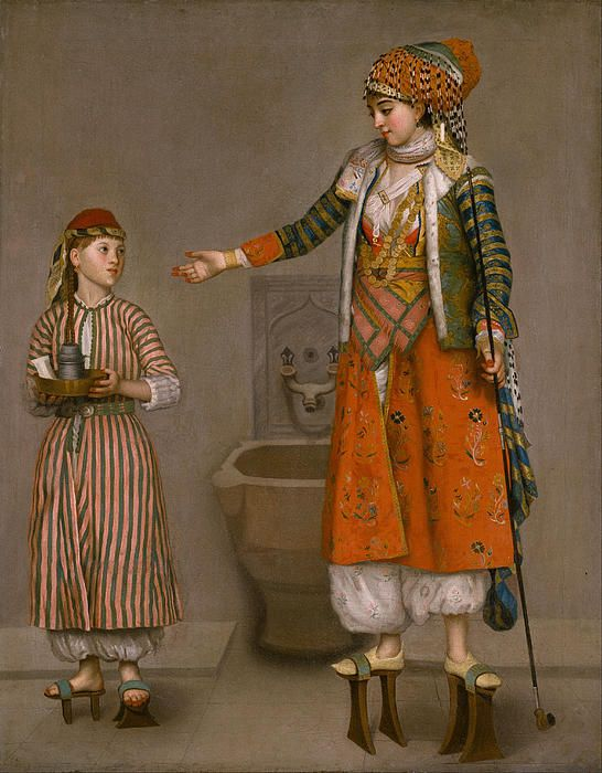 A Frankish Woman And Her Servant  Jean Etienne Liotard