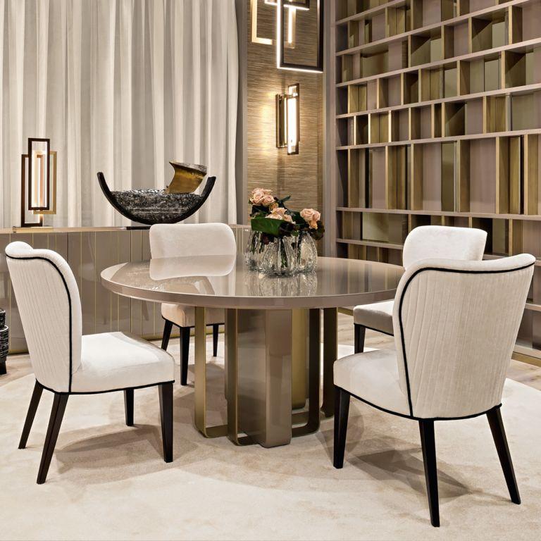 Luxury Velvet Italian Designer Dining Chair