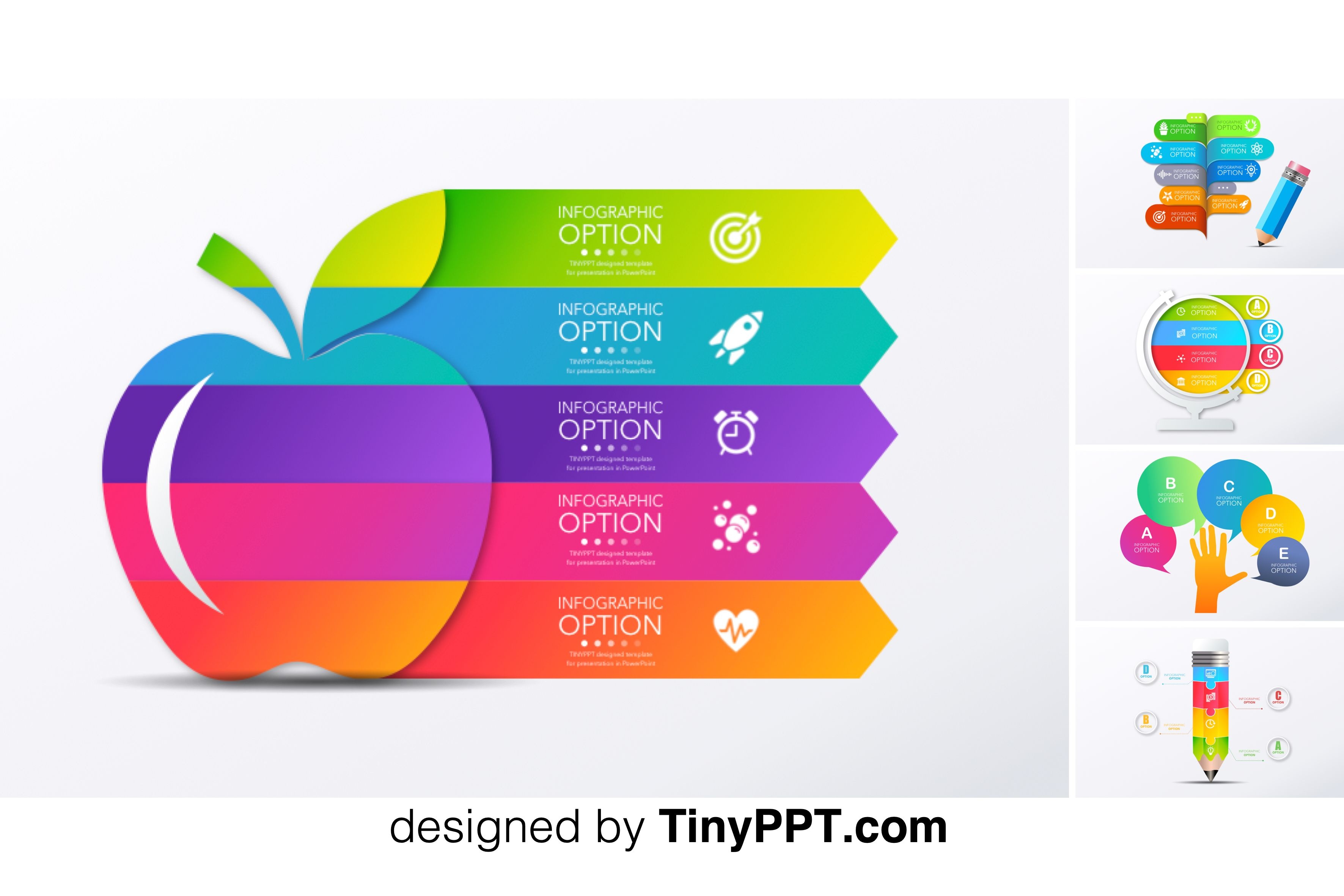Animated Powerpoint Templates Education Infographic Powerpoint