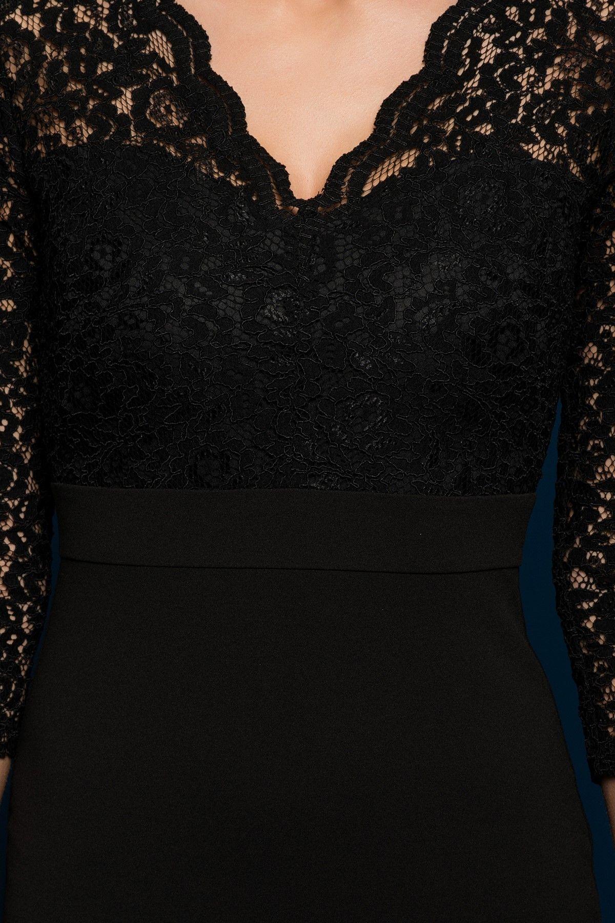 Dantel Detayli Siyah Elbise Mlwaw16fz0328 Siyah Dantel Elbiseler Siyah Elbise Moda Stilleri