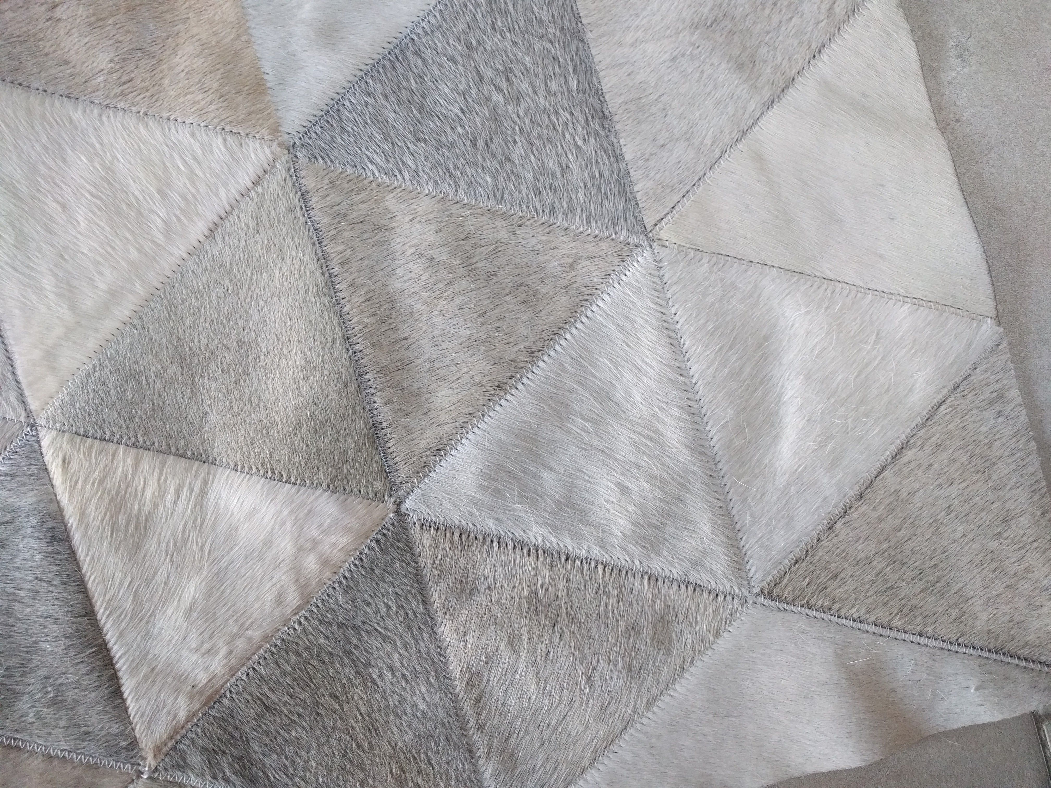Obsessed Taupe Cream Beige And Gray Kata Patchwork Cowhide Rug Custom And Special Like No Other Patchwork Cowhide Rug Patchwork Cowhide Cow Hide Rug